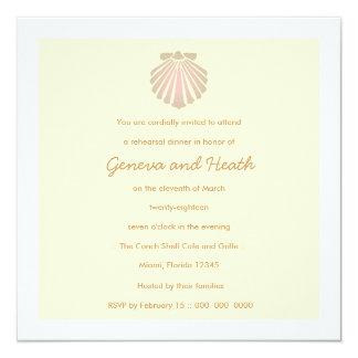 311 Sweet Shell Ecru Invitation