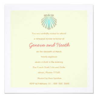 311-Sweet Shell Ecru Robin's Egg Invitation