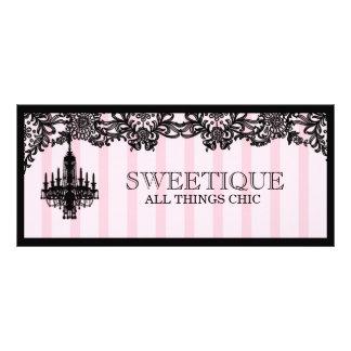 311 Sweetique Pink Stripes Gift Certificate Rack Card Design