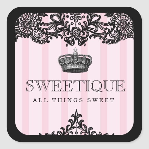 311 Sweetique Pink Stripes & Lace Stickers