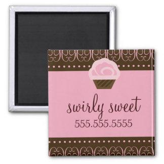 311 Swirly Brown rosado Iman Para Frigorífico