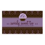 311 Swirly Sweet Purple Chocolate Business Card Template