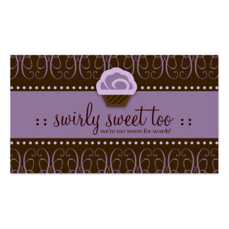 311 Swirly Sweet Purple Chocolate Double-Sided Standard Business Cards (Pack Of 100)