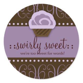 311 Swirly Sweet Purple Chocolate sticker