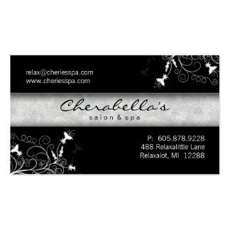 311 tarjetas de visita negras del salón del
