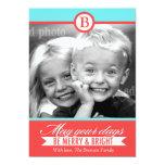 311 tarjetas felices de la aguamarina y brillantes invitación 12,7 x 17,8 cm