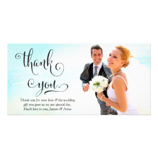 311 Thank You Script Typography Photo Card