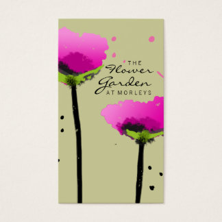 311 THE FLOWER GARDEN EXCLUSIVE SAGE GREEN BUSINESS CARD