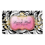 311 The Lavish Pink Plate Appointment Card Double-Sided Standard Business Cards (Pack Of 100)