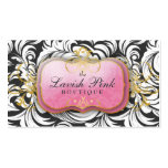 311-The Lavish Pink Plate | Charcoal Business Card Template