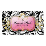 311 The Lavish Pink Plate Diamond Business Card Templates
