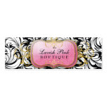 311-The Lavish Pink Plate Hang Tag /Business Card