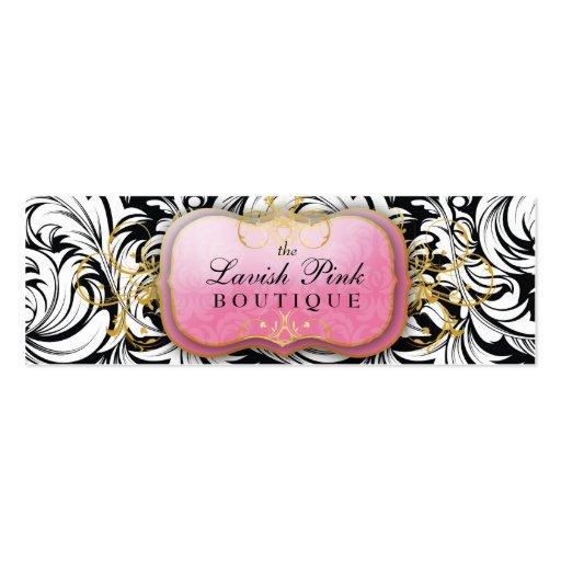 311-The Lavish Pink Plate Hang Tag /Business Card