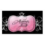 311-The Lavish Pink Plate | Silver Business Card Templates