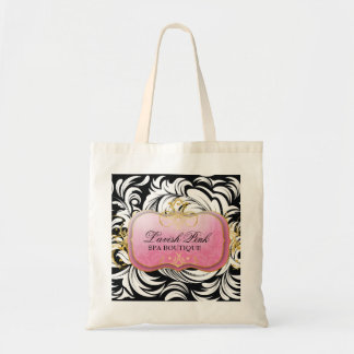 311-The Lavish Pink Plate | Silver Tote Bags