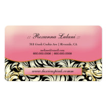 311 The Lavish Pink Plate White Leaves Double-Sided Standard Business Cards (Pack Of 100)