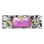 311-The Lavish Pooch | Purple Hang Tag Double-Sided Mini Business Cards (Pack Of 20)