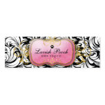 311-The Lavish Pooch | White Leaves Double-Sided Mini Business Cards (Pack Of 20)