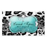 311 The Lavish Topaz Diamond Leopard Business Card