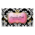 311-The Luscious Pink Plate | Black Business Cards
