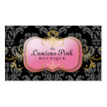 311-The Luscious Pink Plate | Black Double-Sided Standard Business Cards (Pack Of 100)