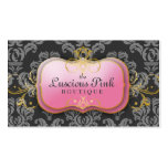 311-The Luscious Pink Plate | Charcoal Business Card Templates