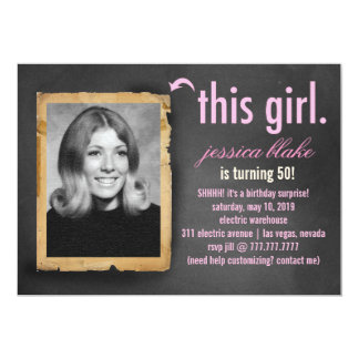 311 This Girl Party Invitation Class Photo