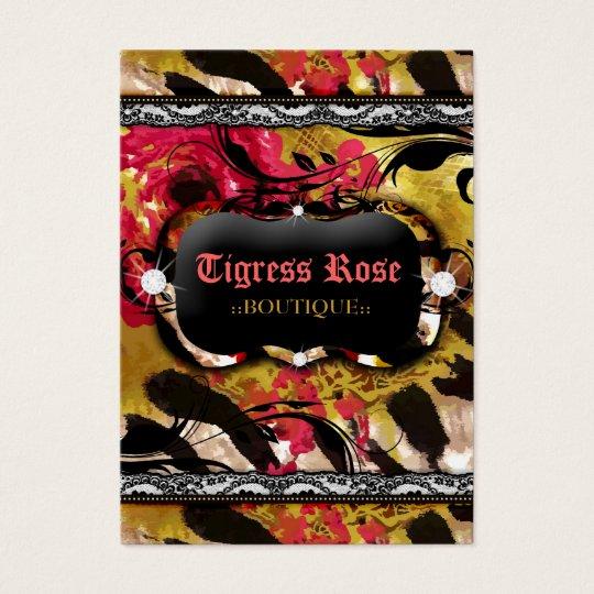 311 Tigress Zebra Rose Business Card