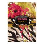 311-Tigress / Zebra Rose Lingerie 5x7 Paper Invitation Card