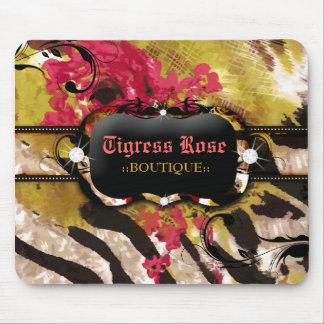 311 Tigress Zebra Rose Mousepad