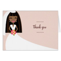 311-TOO CUTIE WEDDING THANK YOU AFRICAN AMERICAN CARD