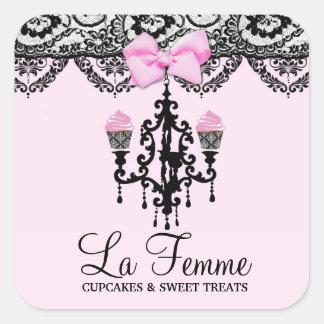 311 tortas Deux rosado de Femme del La Pegatina Cuadrada