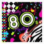 311-Totally el fiesta de los años 80 - guitarra ro Invitaciones Personales
