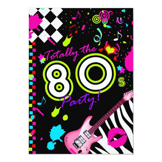 311 Totally the 80s Party Card