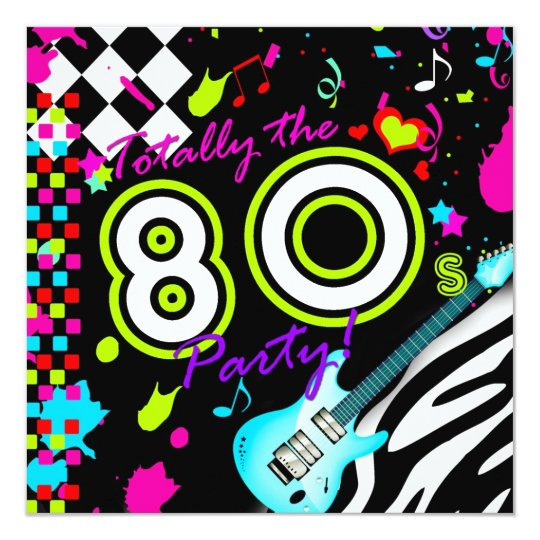 311 Totally the 80s Party - Turquoise Guitar Card
