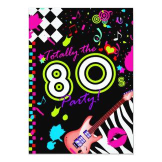 311 totalmente el fiesta de los años 80 - guitarra invitación 12,7 x 17,8 cm