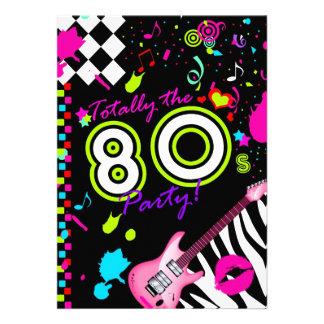 311 totalmente el fiesta de los años 80 invitacion personalizada
