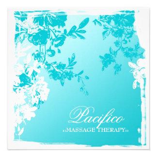 311-Tranquil Blue Garden Fade Custom Invites