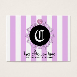 311 Tres Chic Lavender Stripes Business Card