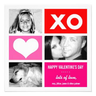 311-Triple Square Valentine Custom Personalized Invitations