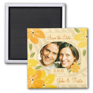 311-TROPICAL SAVE THE DATE ORANGE magnet