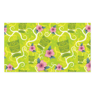 311-Tropical Tiki - Lime Green Name | Place card Business Card Templates