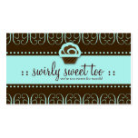 311-Turquoise Swirly Sweet Too Business Card Templates