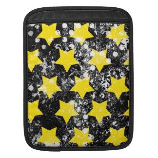311 U R Grunge amarillo y negro de una estrella Fundas Para iPads