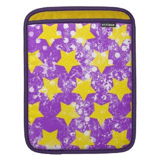 311 U R Grunge amarillo y púrpura de una estrella Mangas De iPad