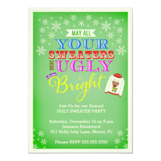 311 Ugly Sweater Party 5x7 Paper Invitation Card
