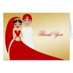 311 Updo Indian Bride & Groom Thank You Card