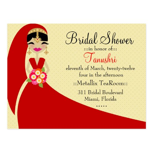 311-UPDO TANUSHRI BRIDE INDIAN POSTCARD