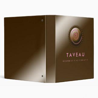 311-Upscale Gourmet Chocolate Vinyl Binders