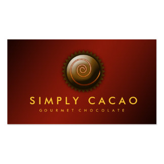 311-Upscale Gourmet Chocolate Double-Sided Standard Business Cards (Pack Of 100)